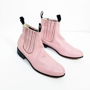 Shoes - 100% leather wester booties pink unisex size 9